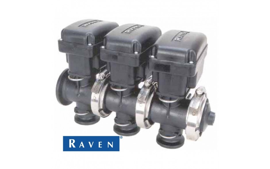 Banjo Electric 3 Way Directional Ball Valve: Raven On/Off Manifold Boom Valve