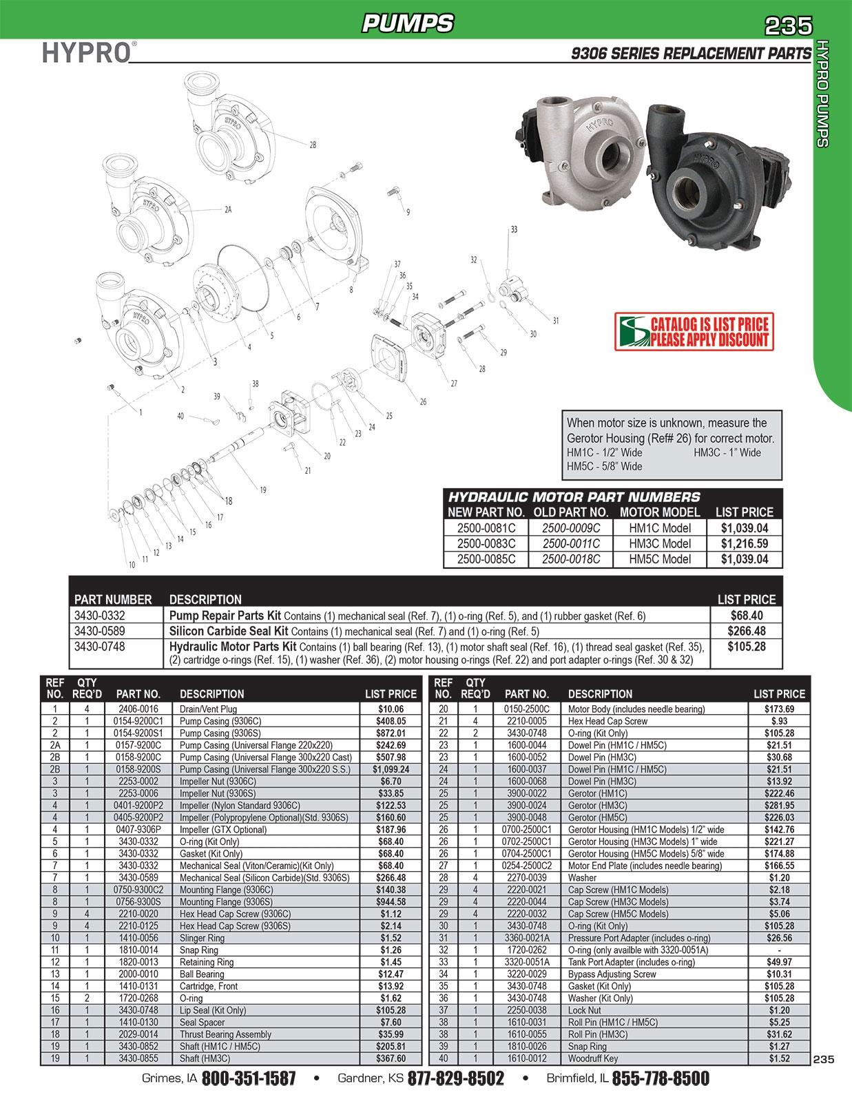 hypro pump part schematics 9306